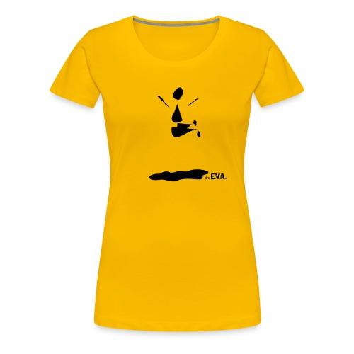 deEVA. Kollektion Pfütze Black - Frauen Premium T-Shirt
