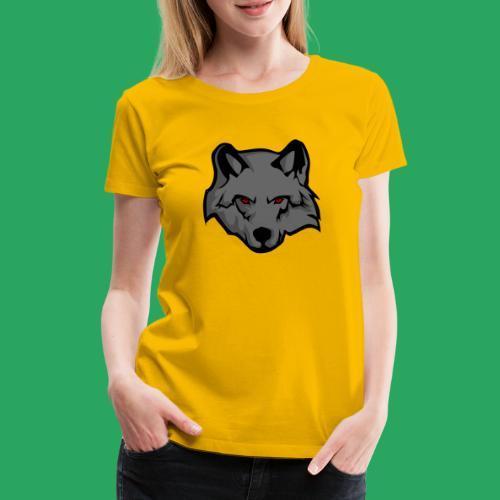 wolf logo - Maglietta Premium da donna