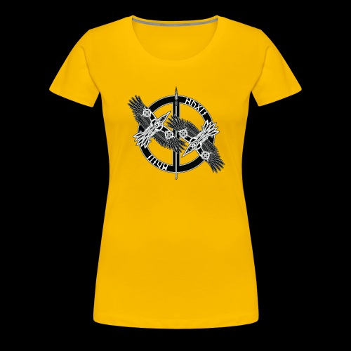Hugin Munin - Premium-T-shirt dam