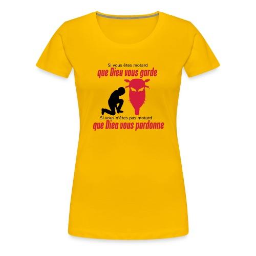 Que Dieu vous pardonne - T-shirt Premium Femme