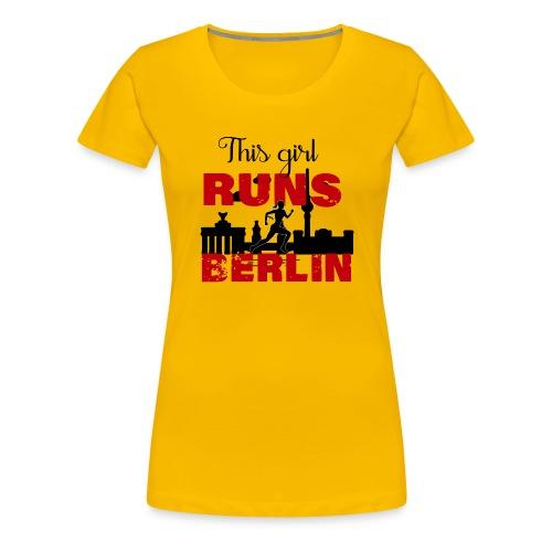 Marathon Berlin - Frauen Premium T-Shirt