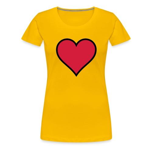 Outline Heart - Women's Premium T-Shirt