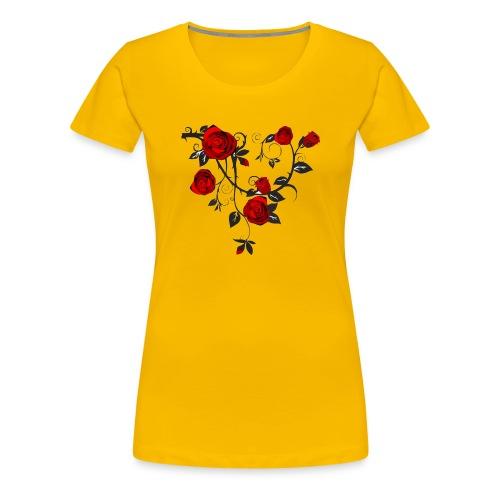 Rosenranken - Frauen Premium T-Shirt