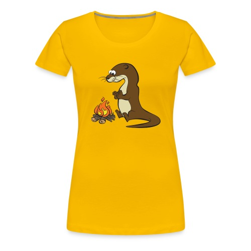 Song of the Paddle; Quentin campfire - Women's Premium T-Shirt