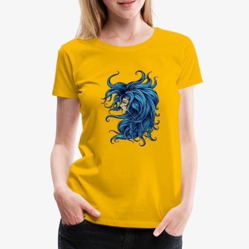 Dame dans le bleu - T-shirt Premium Femme