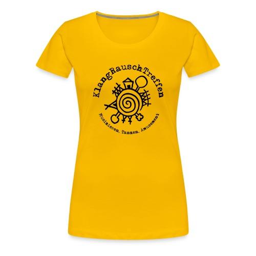 KlangRauschTreffen Logo mit Schrift rund - Frauen Premium T-Shirt