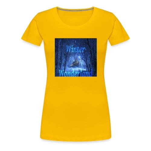 Winter Wonderland - Premium T-skjorte for kvinner