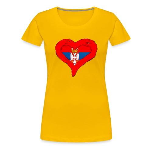 SRBIJA U SRCU - Women's Premium T-Shirt