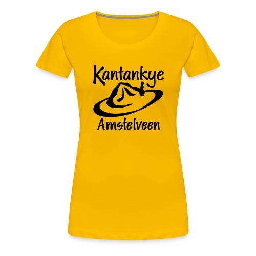 logo naam hoed amstelveen - Vrouwen Premium T-shirt