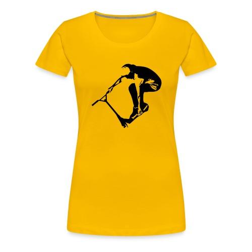 Stunt Scooter in Action 1 GREEN - Frauen Premium T-Shirt