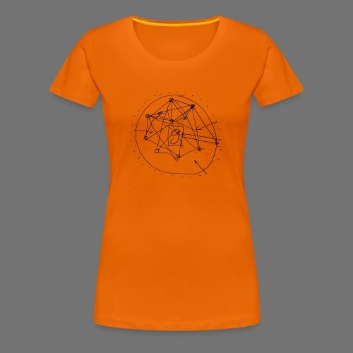SEO strategia No.1 (musta) - Naisten premium t-paita