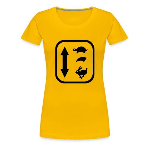 traktor schaltung - Frauen Premium T-Shirt
