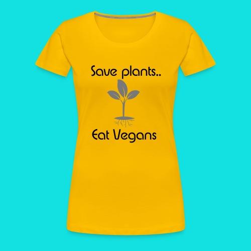 Eat Vegan(s) White - Women's Premium T-Shirt