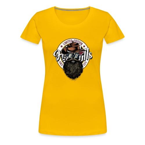 tete de mort crane hipster skull cowboy chapeau - T-shirt Premium Femme