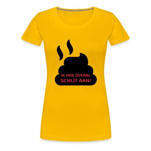 Grappige Rompertjes: Ik heb overal schijt aan - Vrouwen Premium T-shirt