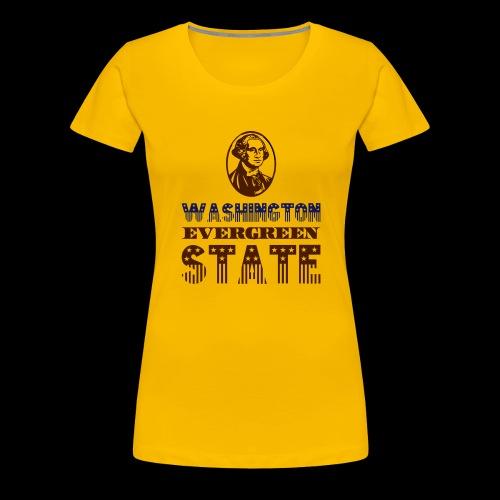 WASHINGTON EVERGREEN STATE - Women's Premium T-Shirt