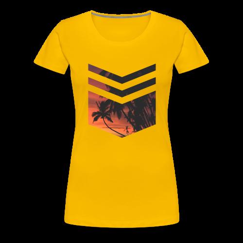Palm Beach Triangle - Frauen Premium T-Shirt