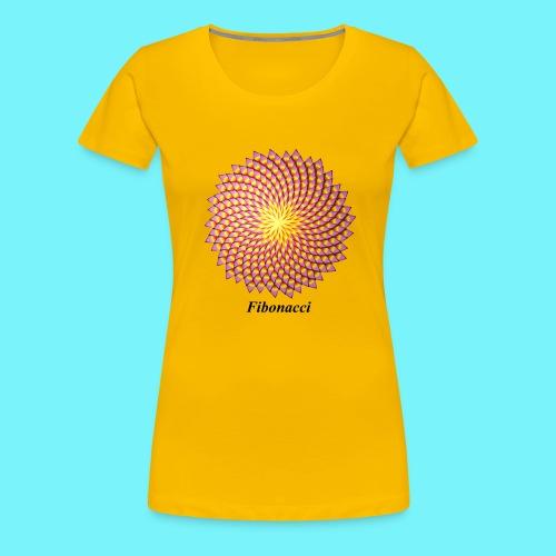 Fibonacci flower - Women's Premium T-Shirt