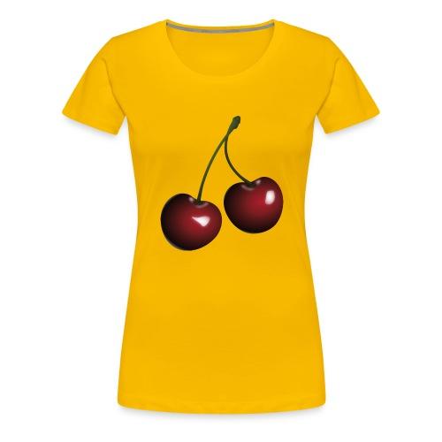 Körsbär - Premium-T-shirt dam