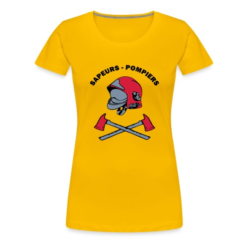 Sapeurs Pompiers petites haches casque Coul - T-shirt Premium Femme