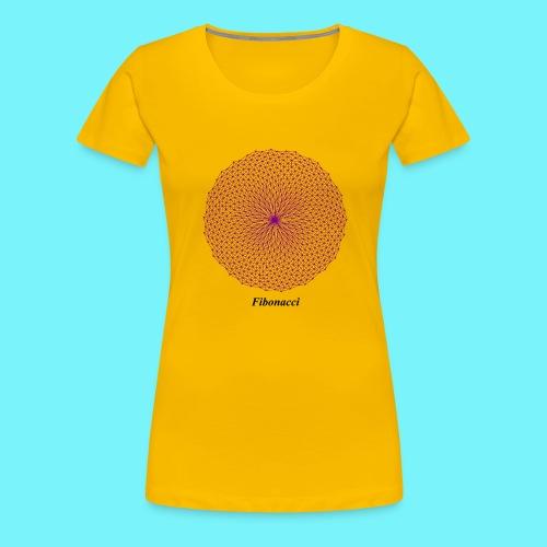Fibonacci webs in purple - Women's Premium T-Shirt