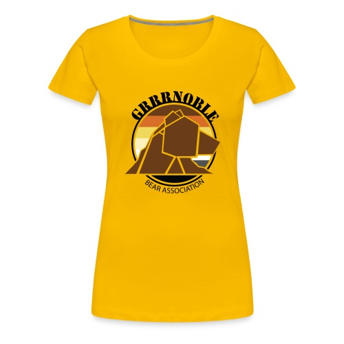 Logo 1 GRRRNOBLE BEAR ASSOCIATION - T-shirt Premium Femme