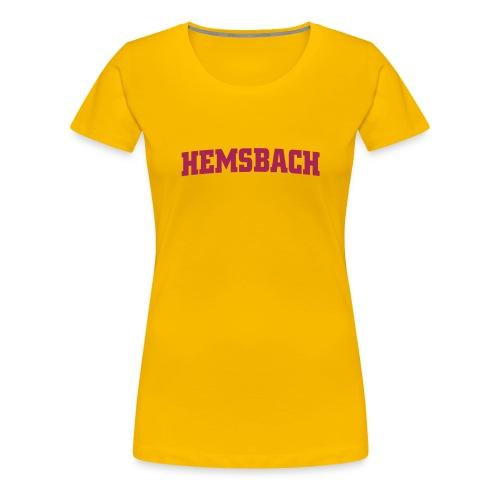 Hemsbach ohne Wappen - Frauen Premium T-Shirt