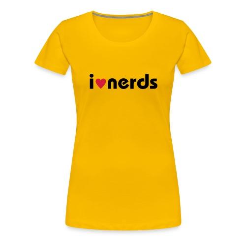 i love nerds - Frauen Premium T-Shirt