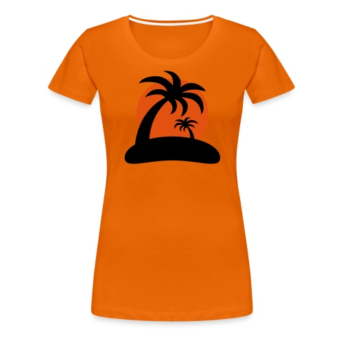 palm island sun - Vrouwen Premium T-shirt