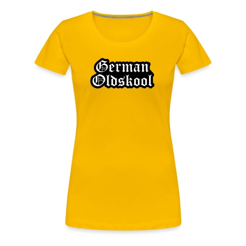 Grand Logo German Oldskool Official - T-shirt Premium Femme