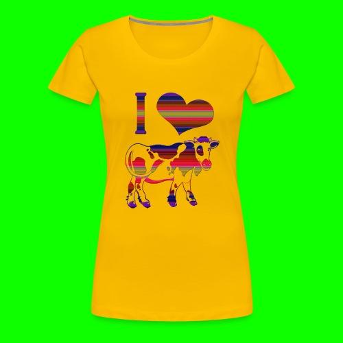 i love cow - Premium-T-shirt dam
