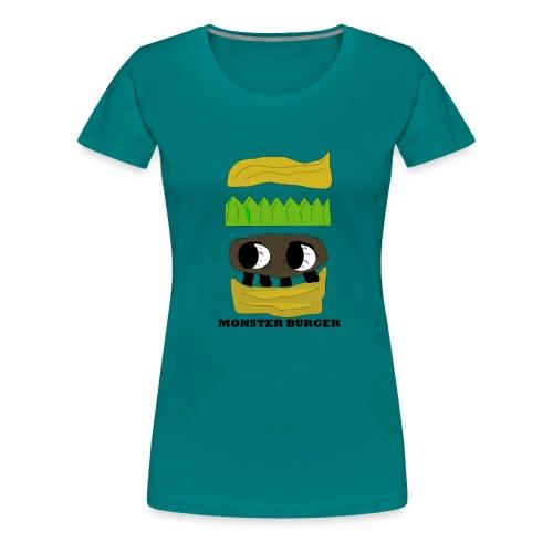 MONSTER BURGER - Frauen Premium T-Shirt