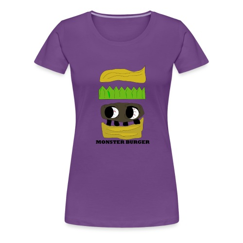 MONSTER BURGER - Frauen Premium T-Shirt