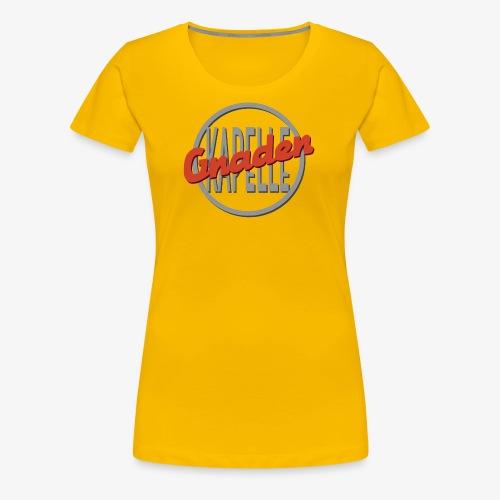 Gnadenkapellen Logo Grau/Rot - Frauen Premium T-Shirt