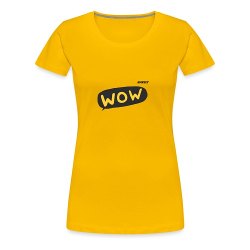 WoW Shirt - Women's Premium T-Shirt