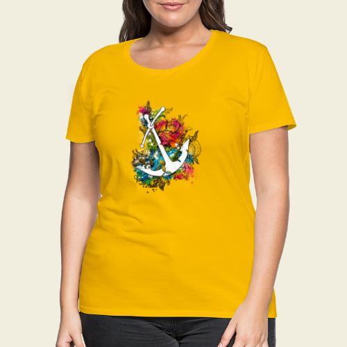 Echte Anker haben Kurven - Frauen Premium T-Shirt