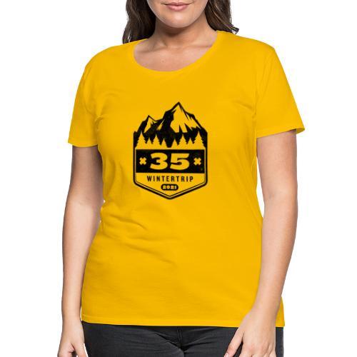 35 ✕ WINTERTRIP ✕ 2021 • BLACK - Vrouwen Premium T-shirt