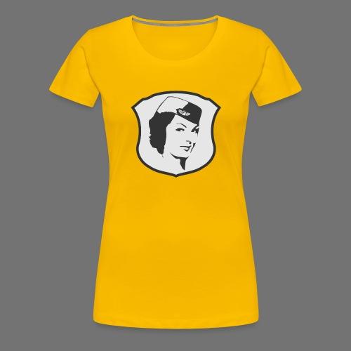 Lentoemäntä lentoemäntä - Naisten premium t-paita