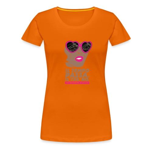 729 scuro Copy Tempo - Maglietta Premium da donna