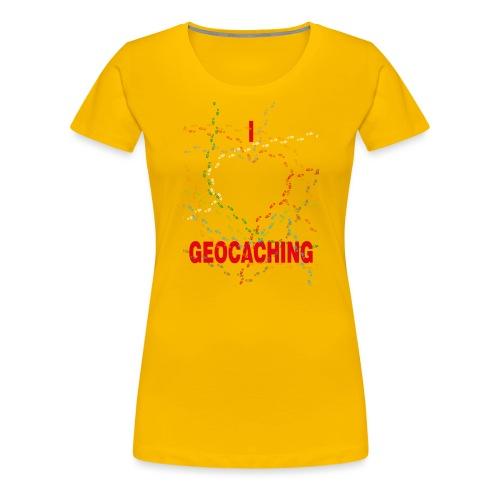 I Love Geocaching for children premium - Naisten premium t-paita