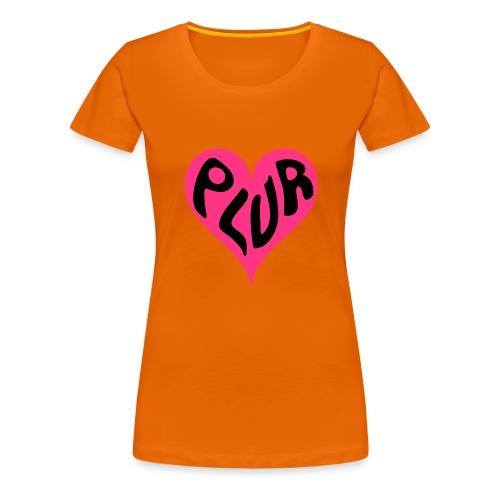 PLUR - Peace Love Unity and Respect love heart - Women's Premium T-Shirt