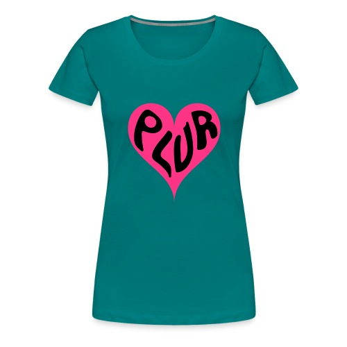 PLUR - Peace Love Unity and Respect love heart - Women's Premium T-Shirt