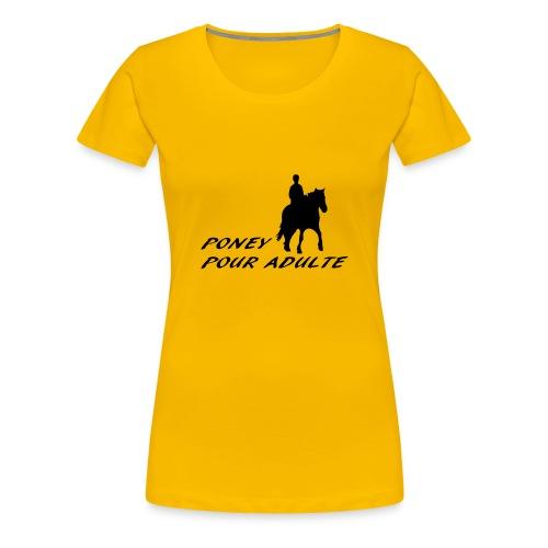 Poney pour adulte - T-shirt Premium Femme