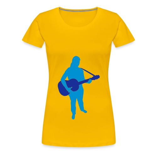 Guitar Woman - Frauen Premium T-Shirt