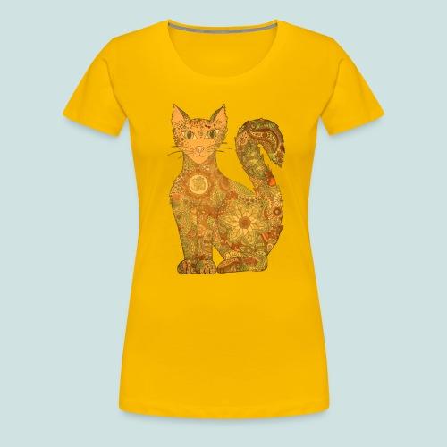 Seelenkatze gelb - Frauen Premium T-Shirt