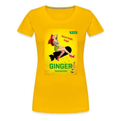 Ginger - Naisten premium t-paita