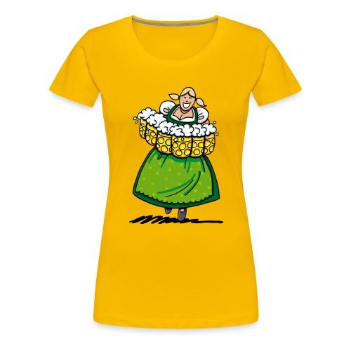 Oktoberfest Bedienung Maßkrüge - Frauen Premium T-Shirt