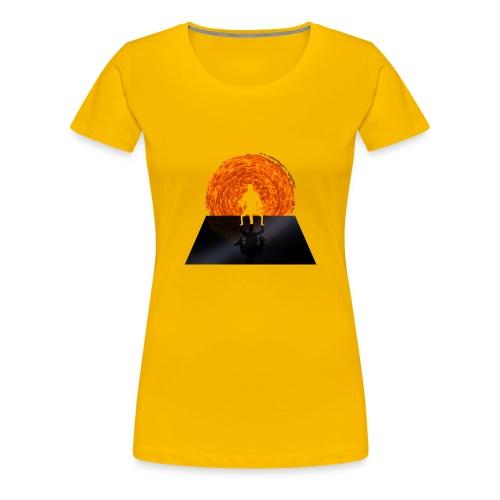 Staring Into the Illusive Sun (Red) - Women's Premium T-Shirt