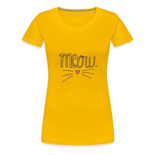 MEOW - Camiseta premium mujer