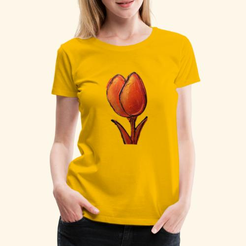 TULIP ORANGE - Vrouwen Premium T-shirt